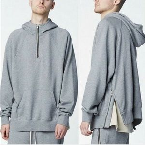 FOG X PacSun Essential Half Zip Hooded Sweatshirt